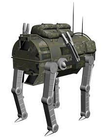 美军新型四腿机器人效果图