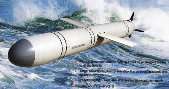 俄制俱乐部系列潜射导弹3M-54E1型号