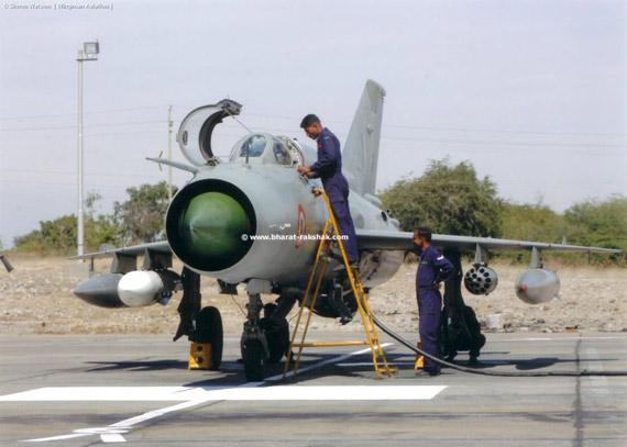 印度空军装备的米格-21型战斗机