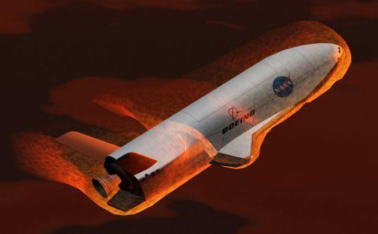 X-37B返回大气层示意图