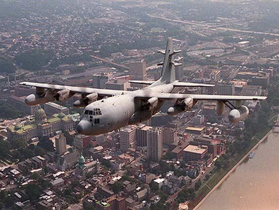 資料圖:美軍EC-130特種電子戰飛機