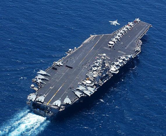 资料图:美国海军华盛顿号核动力航母