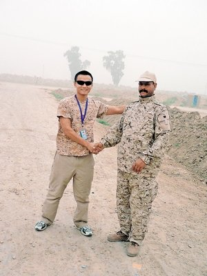 Ho root (left) and Iraqi friends. picture provided by the respondents