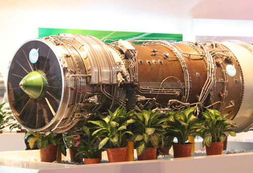 Zhuhai air show debut in the last line is too high-thrust turbofan engine.