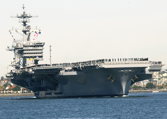 11 30, Navy CVN-70 aircraft from its home port of San Diego left for operational deployment of the West Pacific Ocean.