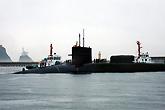 密歇根号抵达釜山海军基地