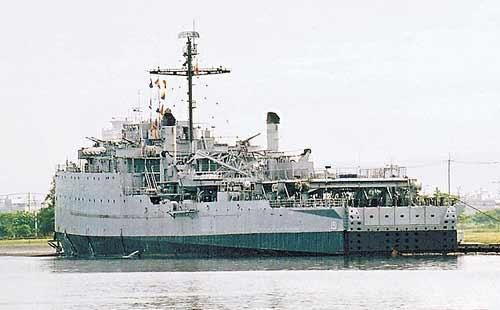 """台军""""中正号""""船坞登陆舰 资料图 图片来源:台湾《苹果日报》"""