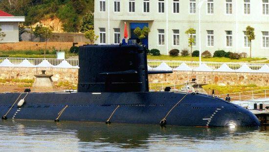 资料图:中国海军早期服役的元级常规潜艇