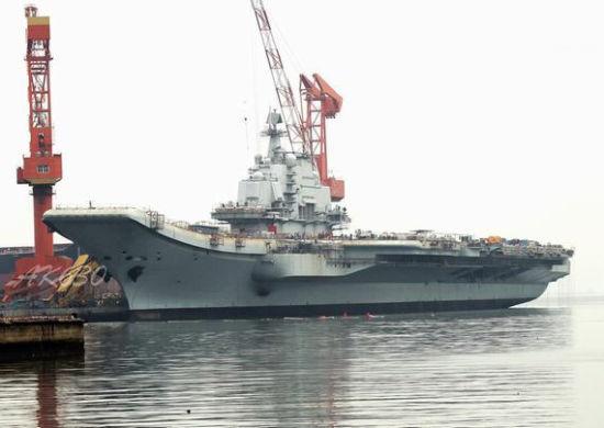 资料图:中国瓦良格号航母改装进程进展顺利