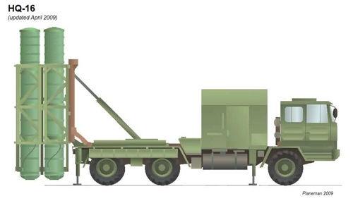 美称中国已装备陆基版HQ-16A垂直导弹发射系统