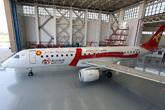 新浪微博号彩绘飞机俯视图