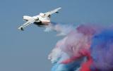 俄罗斯别200两栖飞机空中洒水