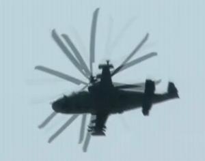 俄罗斯K52武装直升机飞行表演