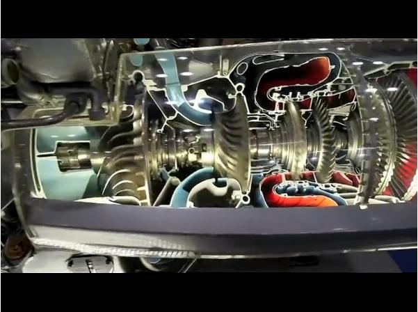 普惠公司展示pw100发动机