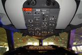 波音787驾驶舱上部