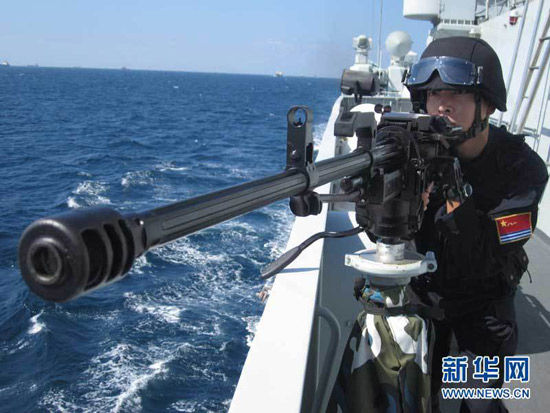 资料图:中国海军护航军人正在进行实战演练