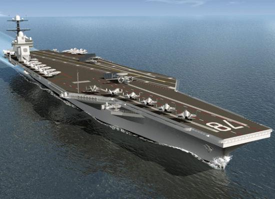 资料图:美国海军CVN-78福特号航母效果图