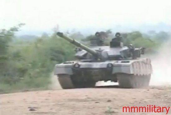 缅甸陆军装备的中国VT1A(MBT-2000)外贸型主战坦克