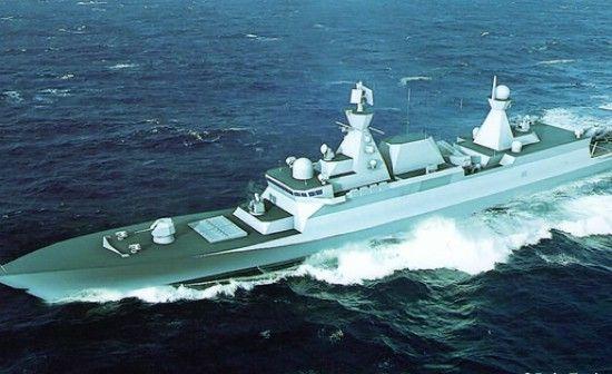 未知型号的驱逐舰。根据相关企业提供的资料显示,这种驱逐舰长140米,排水量4500吨,最大航速28节,装备1门76毫米口径的舰炮,配备反舰武器、近防武器和鱼雷,主要作用是攻击水面大中型战舰、对付潜艇和参与护航行动。
