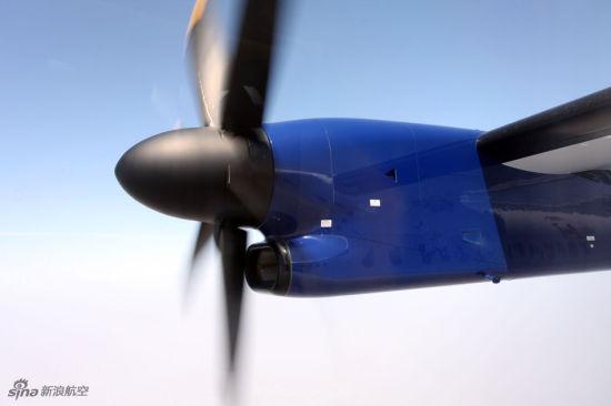 庞巴迪Q400 NextGen客机涡桨发动机。(图片版权所有 不得转载)