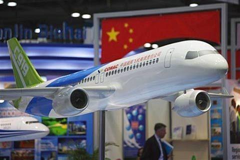 资料图:国产大客机C919外型样机