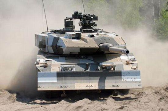 德国产豹2A7主战坦克