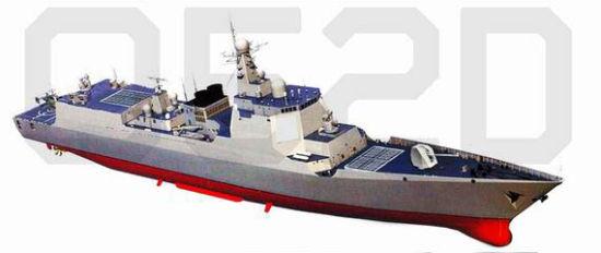 网传中国新型052D驱逐舰亮相