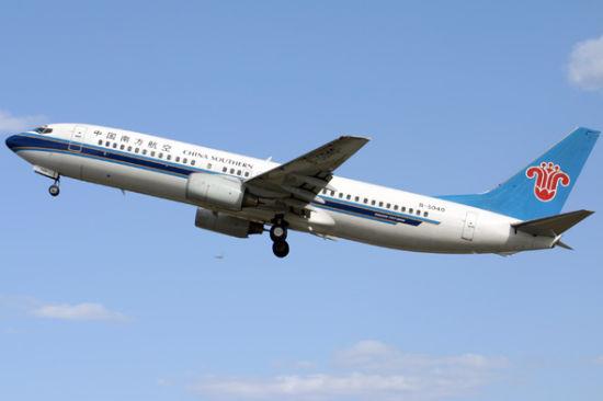 南航波音737-800型飞机(摄影:陈诚)