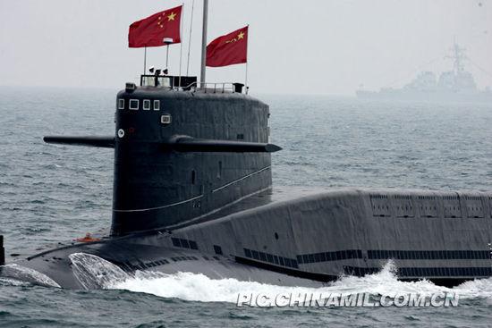 中国海军列装的导弹核潜艇。记者乔天富