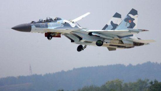 资料图:俄罗斯苏-30SM战机。