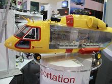俄罗斯公司展出米-38等多种直升机模型