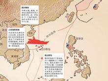 读图:南海主要军事力量分布
