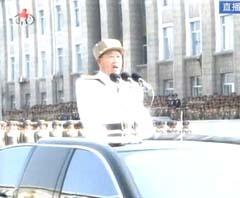 朝鲜人民军高官检阅部队
