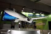 国产C919大飞机模型亮相