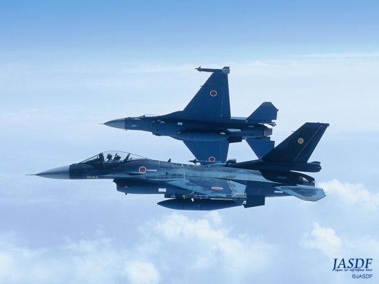 资料图:日本航空自卫队的F-2战斗机。