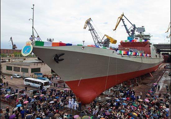 资料图:俄罗斯为印度建造的隐身护卫舰