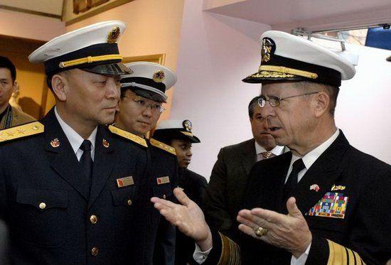资料图:中国海军司令员吴胜利2007年曾访美