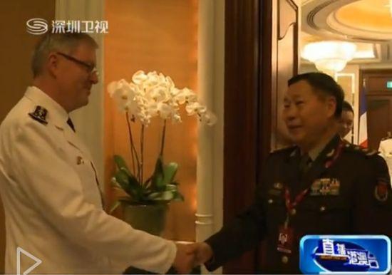视频截图:中方代表团团长戚建国