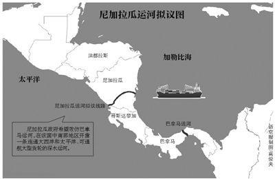 尼加拉瓜运河工程示意图(资料图)