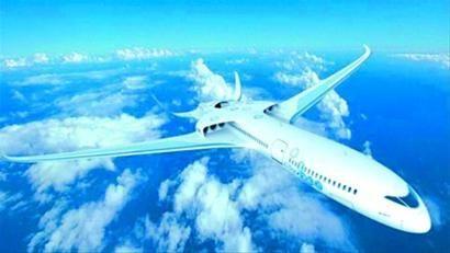 空客电飞机设计效果图