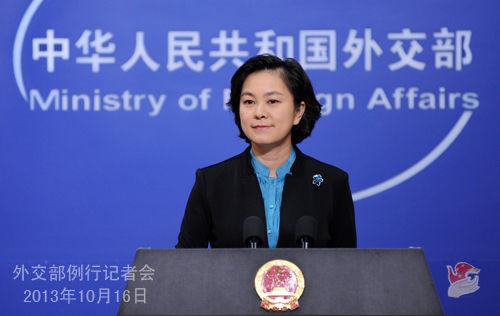 2013年10月16日,外交部发言人华春莹主持例行记者会,当日即否认中国外交人员赴日