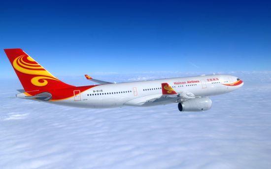 海航西安飞往西雅图往返3000元起,图为海航A330客机