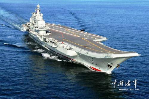 """中国首艘航母""""辽宁舰""""海试"""