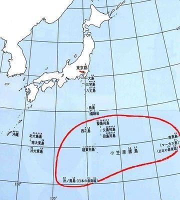图为小笠原群岛具体地理位置