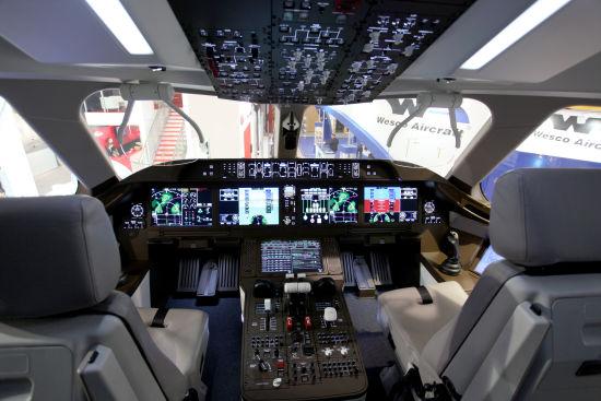 资料图:国产C919大飞机驾驶舱。(摄影:陈诚 版权所有 不得转载)