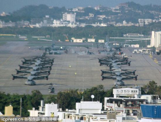 资料图:驻日美军普天间机场