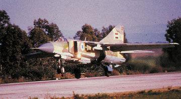 资料图:叙利亚空军装备的米格-23战机