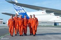 A350XWB首飞团队成员