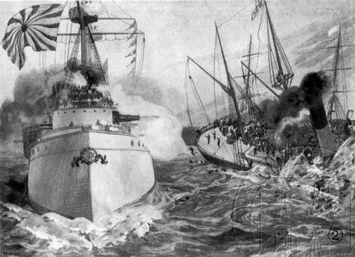 资料图:甲午战争中的黄海海战