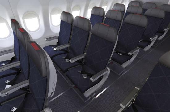 美国航空空客321客机经济舱